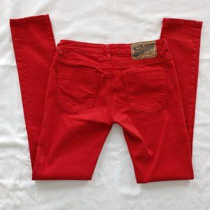 Vigoss Studio Red Skinny Jeans Size 1/2 or 26